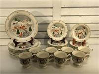 Sanyo Christmas China set