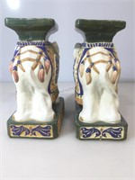 Pr ceramic Chinese Elephat stands,