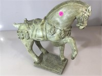 Composition  Ming style horse, approx 16 inches H