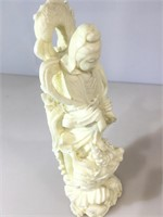 Quon yin resin carving