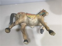 Carved wood Spanish style horse