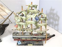 1 Black ship model, 1 constitution model