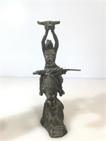 2 resin Western sculptures