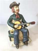 Western guitarist sculpture