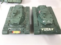 5 USA Tank toys largest one its 11 inches long