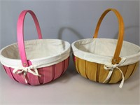 Pair of wooden Transpac baskets