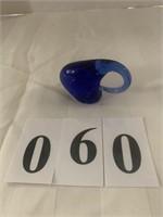 Glass Paper Weight - Blue Elephant