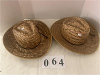 (2) Straw Hats - Mexico