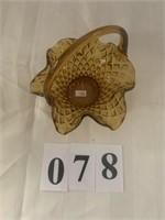 Gold Glass - Handled Basket