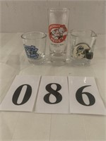 (3) Shot Glasses - Sports Designs