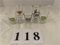 (5) Shot Glasses - Assorted Designs