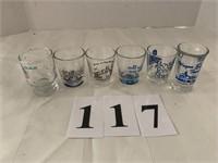 (6) Shot Glasses - Assorted Designs