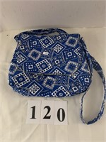 Hand-Crfated Ladies Purse - Blue Patch Design