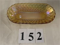Carnival Glass Oval Bowl / Dish