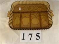 Gold Glass 5-Section Fruit  Plate / Tray