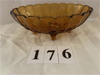 Gold Glass Pedestal Fruit Bowl