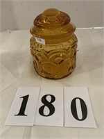"""Gold Glass """"Moon & Stars"""" Canister Jar"""