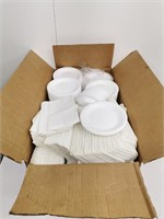 Box Of Disposable Plates & Napkins