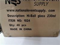 Dozen New Hi-Ball Glasses