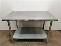 "S/S Worktable With Undershelf - 48"" x 30"""