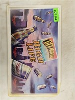 Vintage Miller Time Plastic Beer Sign