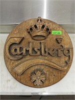 Faux Wooden Carlsberg Beer Sign