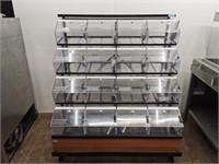 16 Compartment Bulk Dispenser W/ Scoops