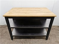Wood Table Top Workstation