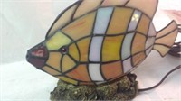 9.5 inch stain glass fish light