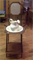 53 inch washstand with picher and bowl