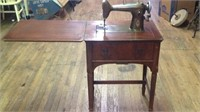 Vintage Westinghouse sewing machine with cabinet