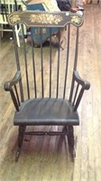 Vintage decorated rocking chair