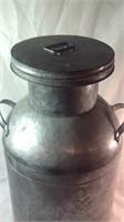 24 inch tall tin milk jug