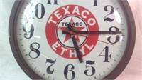 Vintage 14 inch Texaco electric clock