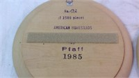 2 wood handcrafted by Piaf  W. Germany