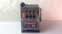 Battery powered small slot machine