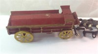 Cast iron beer wagon with horses