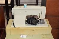 Sewing Machine, Sewing Cabinet, & Supplies