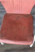 (2) Metal Mid Century Lawn Chairs