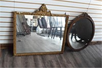 (2) Antique Mirrors