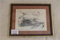 """The Narrow Gauge Railway"" Framed Print"
