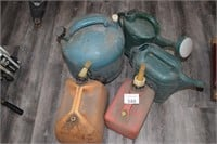 (5) Gas & Water Cans