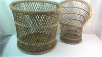 Miscellaneous wicker lot