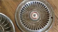 Miscellaneous lot of vintage hubcaps