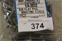 "2 PKG 1/4-20X2 3/8"" FLAT PHIL MACHINE SCREWS"