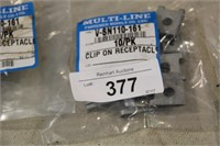 4 BAGS OF 10 CLIP-ON RECEPTACLE