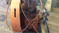 Big air compressor on cart works good