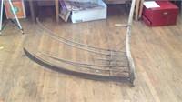 Large antique Hay rake