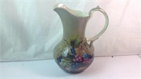 Decorated porcelain pitcher