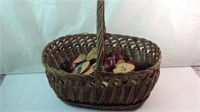 Basket with wood apples
